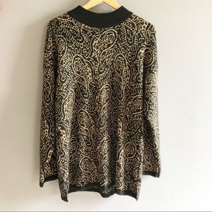 Vintage Sheridan Square Black and Gold Sweater